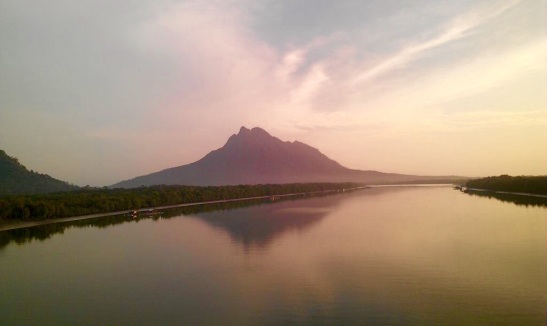 Santubong River and the Princess Mountain @ Kuching, Sarawak